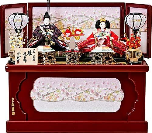 雛人形 ひな人形 久月 収納飾り 収納二人飾リ 親王飾り 三五親王 間口61×奥行35×高さ54cm