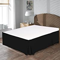 """Premium 100% Egyptian Cotton Box Pleated Bed skirt 15"""" Drop Length Hotel Collection Finest Quality Long Staple Durable Comfortable - By MISR Linen"""