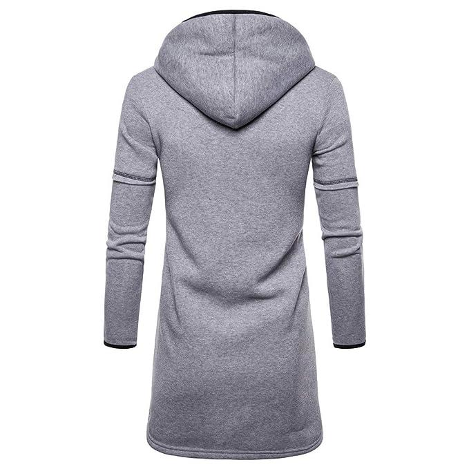 ... Camisas De Vestir OtoñAl Cremallera con Cremallera CáRdigan Abrigos SóLido Trench Coat Jacket Cardigan Outwear: Amazon.es: Ropa y accesorios
