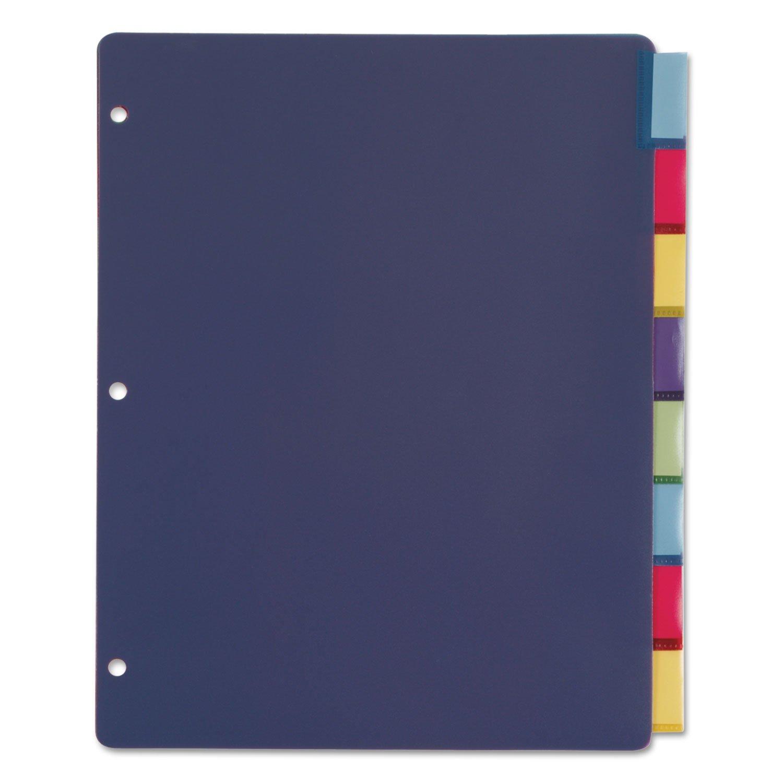 Cardinal 84019 Poly Index Dividers, Letter, Multicolor, 8-Tabs/Set, 4 Sets/Pack