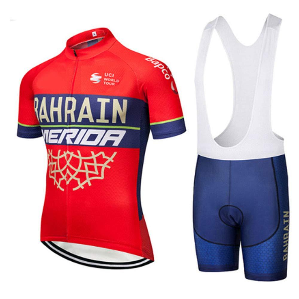 Kevin Bin Tuta Ciclismo Completo Bici Uomo Estivo con Maglia e Pantaloncini Corti Imbottiti