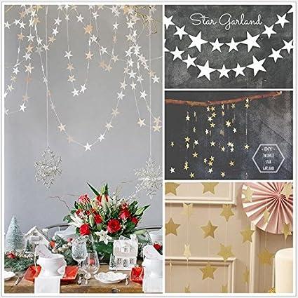 Amazon Com Glitter Little Star Banner Garland For Valentine