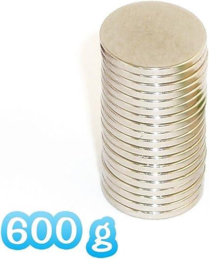 10 SUPER MAGNETI POTENTI 20 x 2 dischi CALAMITE NEODIMIO 2 Kg Attrazione