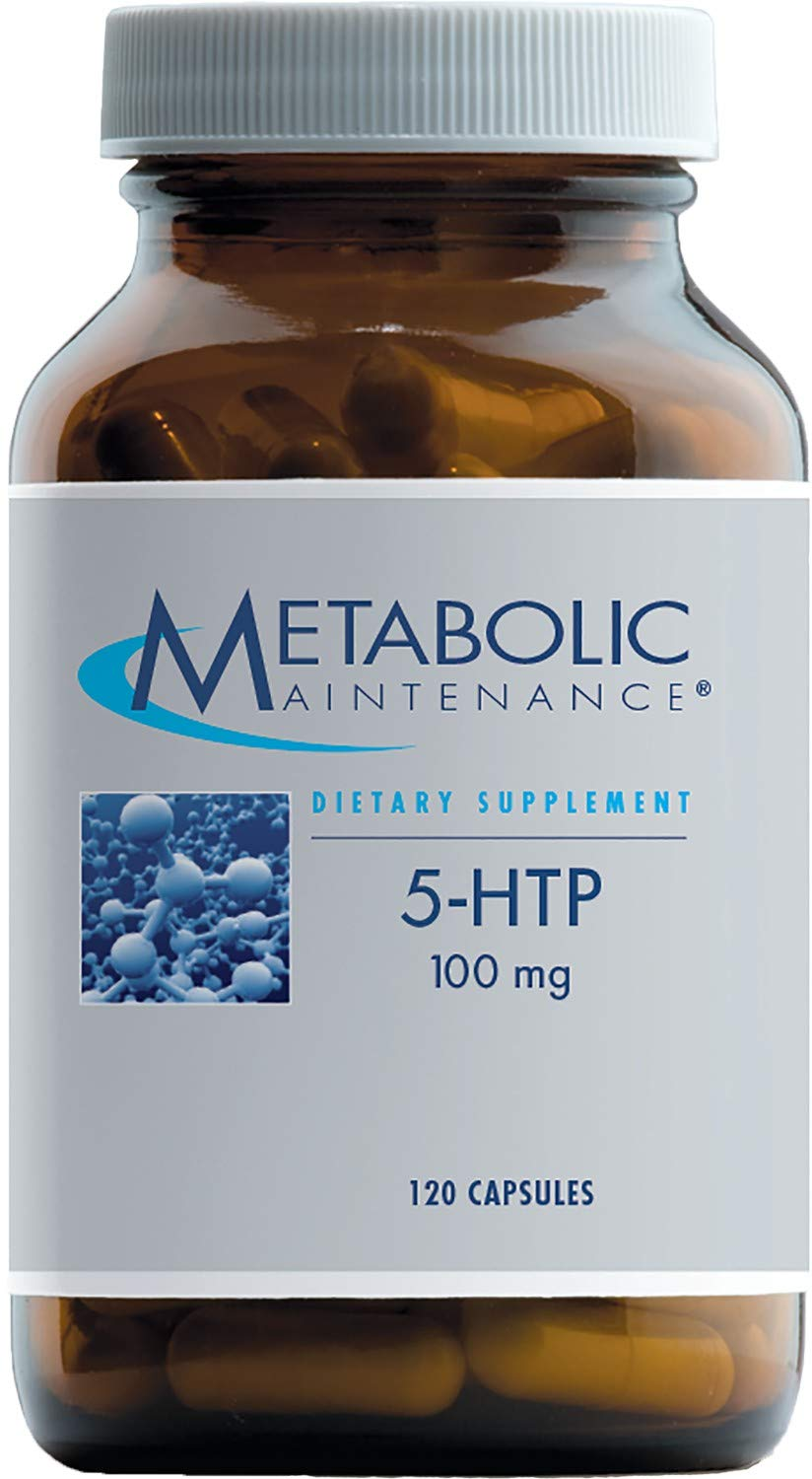 Metabolic Maintenance 5-HTP - 100 Milligrams with Vitamin B6 (P-5-P) for Mood + Sleep Support (120 Capsules)