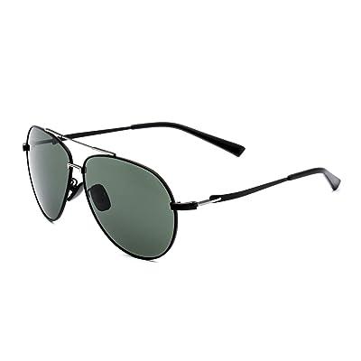 5f177809be CHB Polarizadas Gafas de Sol Protección UV 400Ligeras Con Estuche de Gafas  Para Hacer Ejercicio Aviador Polarizadas Marco Metal Hombres