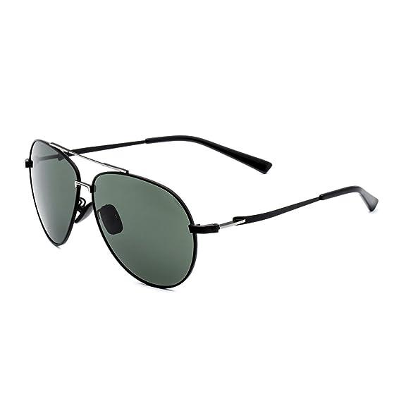 CHB Polarizadas Gafas de Sol Protección UV 400Ligeras Con Estuche de Gafas Para Hacer Ejercicio Aviador Polarizadas Marco Metal Hombres