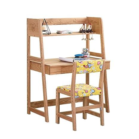 Sedie da scrivania Studio tavolo e sedia scrivania in legno massello ...