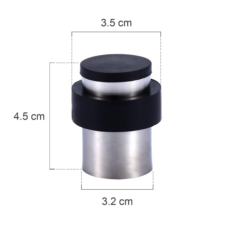 4 X Fermaporta a Pavimento in Acciaio Inossidabile 45 mm