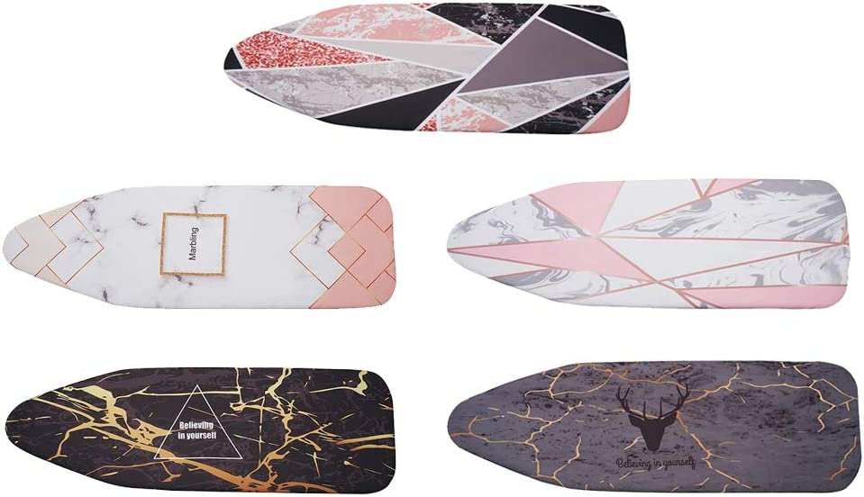 20x55 Fits Large and Standard Boards VANKOA Ironing Board Cover Pink Marble Thick Padding Elastic Edge Covers Pads Resist Scorching and Staining