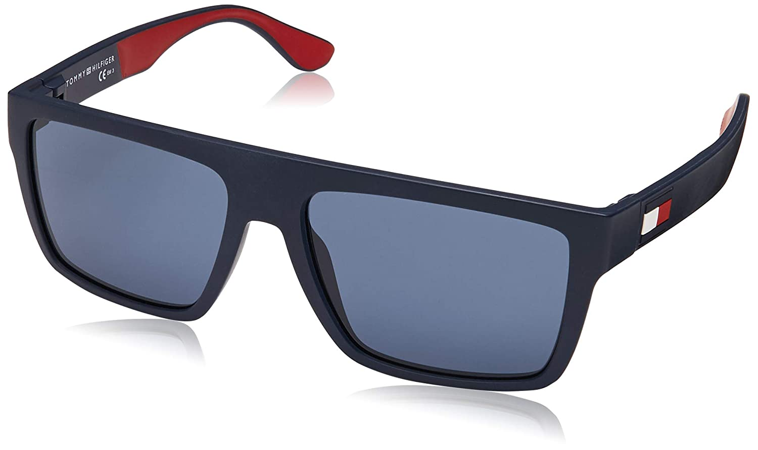 22c52d7b2e73 Amazon.com: Tommy Hilfiger TH1605/S IPQ Matte Blue TH1605/S Square  Sunglasses Lens Category: Tommy Hilfiger: Clothing