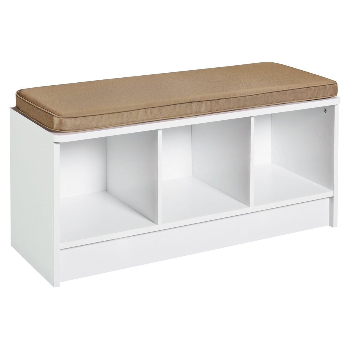 Amazon.com: ClosetMaid 1569 Cubeicals 3 Cube Storage Bench, White: Home U0026  Kitchen