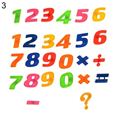 LFOEwpp7 Magnetic Letters and Numbers for Educating Kids in Fun - Alphabet Refrigerator Fridge Magnets -26Pcs Lower/Upper Case Alphabet Letters Number Learning Toy Numbers: Home & Kitchen