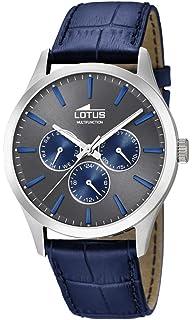 Lotus Watches Reloj Multiesfera para Hombre de Cuarzo con Correa en Cuero 18576/3