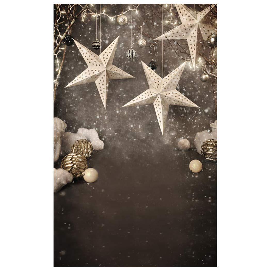 JUSTDOLIFE クリスマス 写真撮影用背景 装飾写真背景 写真撮影用小道具 One Size ホワイト T42R5ZHC419D0NPH0314BPTZ  ホワイト B07L75SLDB