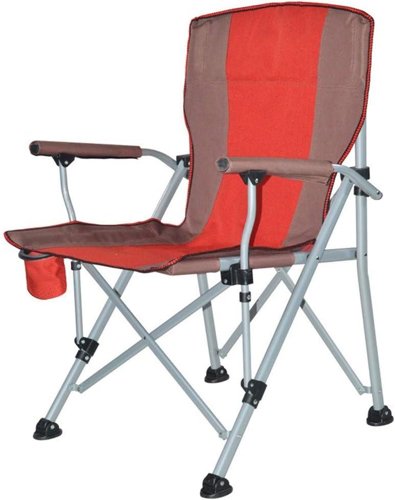 ZXBN Portátil Plegable sillas de Playa con reposabrazos Paño de Oxford Silla de Camping Cómodo Antideslizante Tumbona reclinable para Exterior Jardin Piscina Picnic etcB-60x60x94cm