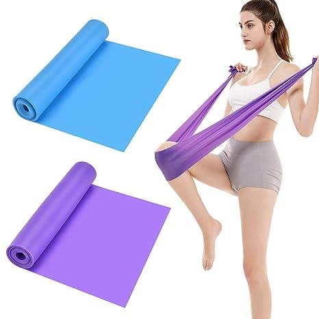 NATUCE 2 Pcs Bandas Elasticas de Fitness, 1.5M x 15CM Látex ...