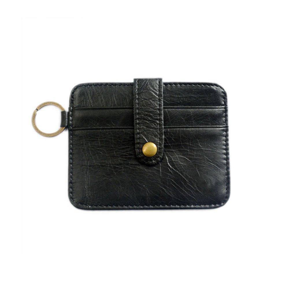 Leather Credit Card Wallet Front Pocket Slim Card Wallet Useful Credit Card Wallets Small Purse RFID Blocking The Caillu