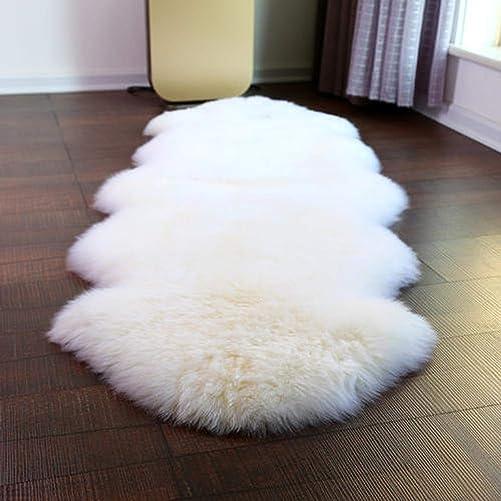 ABUSA Australian Sheepskin Rug Chair Cover Seat Pad Shaggy Area Rug