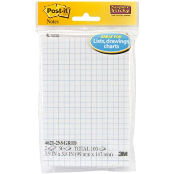 Amazon.com : Post-it Super Sticky Notes, 4 in x 6 in, White with ...