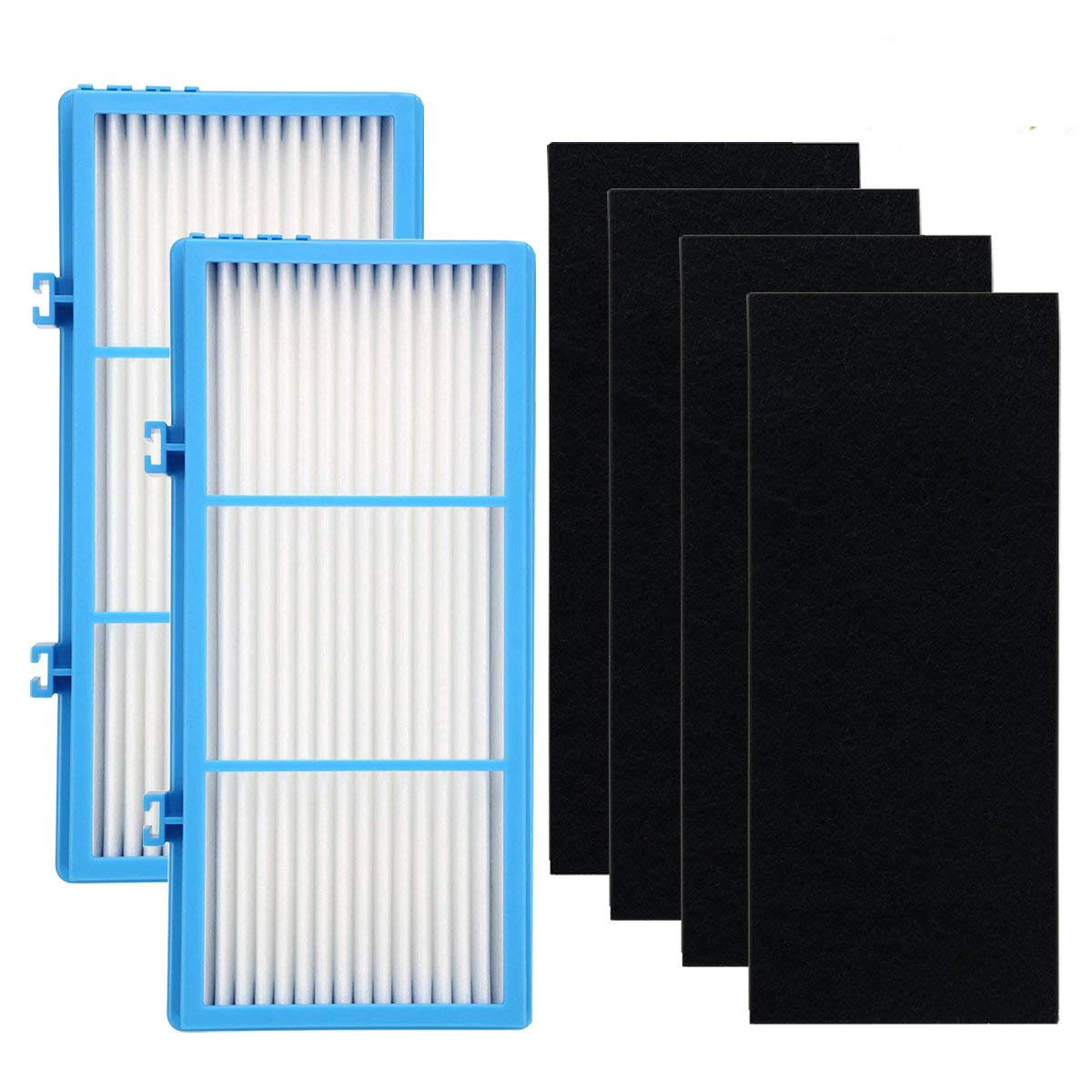 Leacheery 2 Pack Replacement Filter for Holmes Hepa Type Total Air Filter, HAPF30AT Holmes Air Purifier Filter AER1 Series and 4 Pack Replacement Carbon Booster Filte for Holmes Total Air Purifier