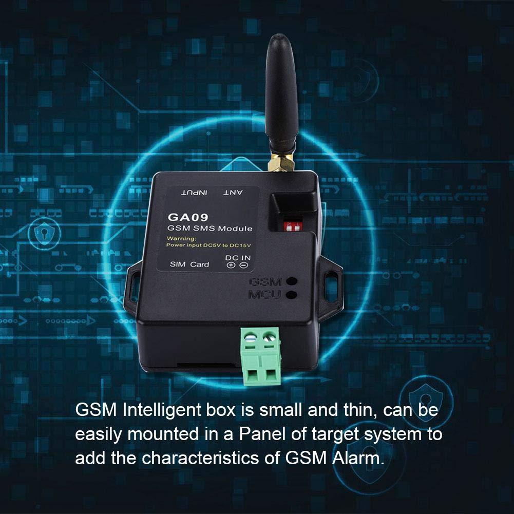 Kafuty Sistema de Alarma gsm con Sistema de Alarma gsm de Seguridad para el hogar gsm Mini 8 CH con dise/ño Inteligente y Llamada inal/ámbrica con Alarma de SMS Soporte Personalizado con Texto SMS