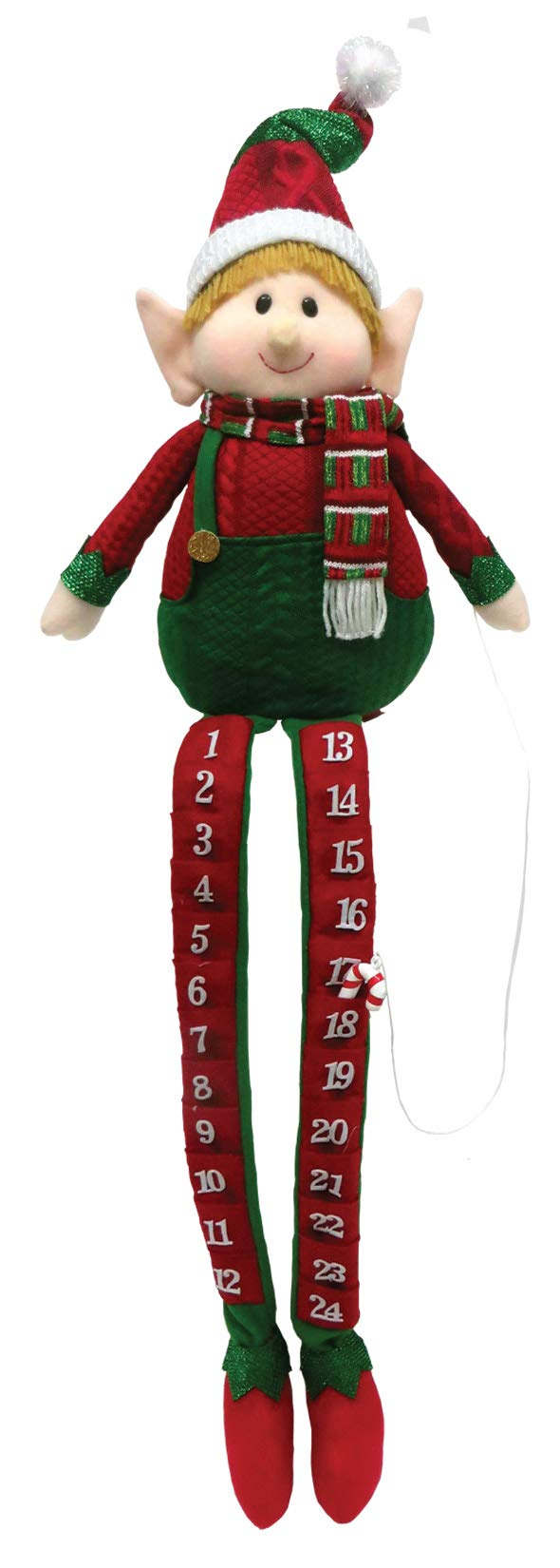 Santa's Workshop Elf Countdown Plush, 36'' Tall, Red/Green/White