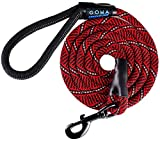 GOMA Strong Chew Resistant Reflective Dog Training Leash- 100% Nylon - Increased safety for night walking - Small Medium and Large breeds - ergonomic non slip grip made with mountain climbing rope