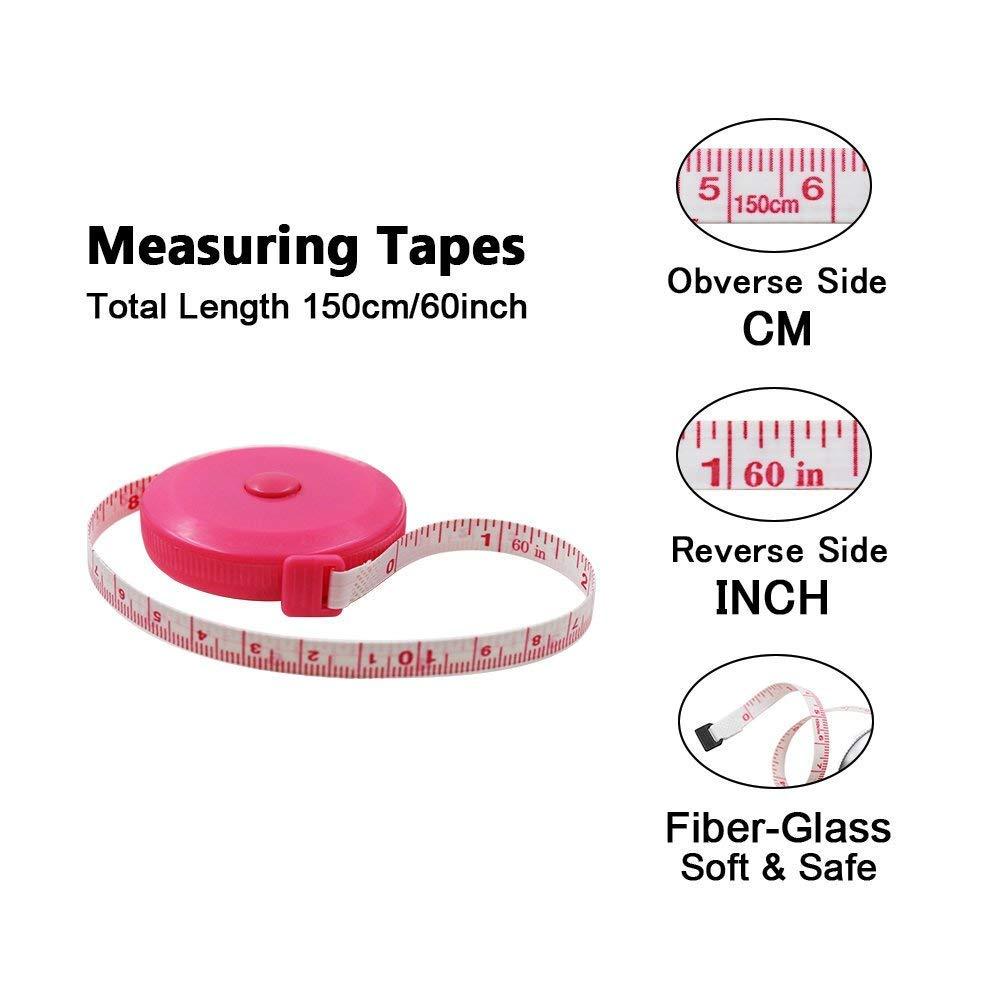 DiCUNO Ruban /à mesurer souple et r/étractable de 1,5 m 3 Colors Package with Soft Tape /… Blue, Red, Yellow