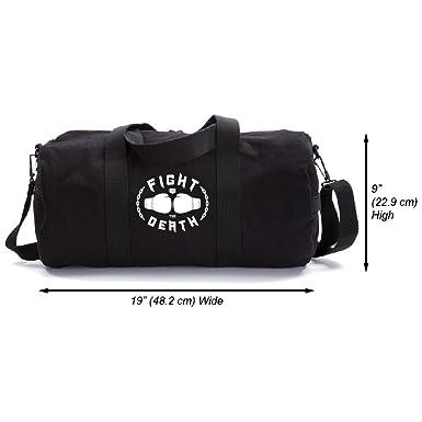 03ab127652 Fight to the Death Army Sport Heavyweight Duffel Bag Black   White Medium