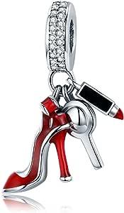 GDDX Colgante de Pata de Zapato de ángel de Girasol de Plata esterlina Charm fit Pulsera y Collar de Pandöra para Mujer Chica