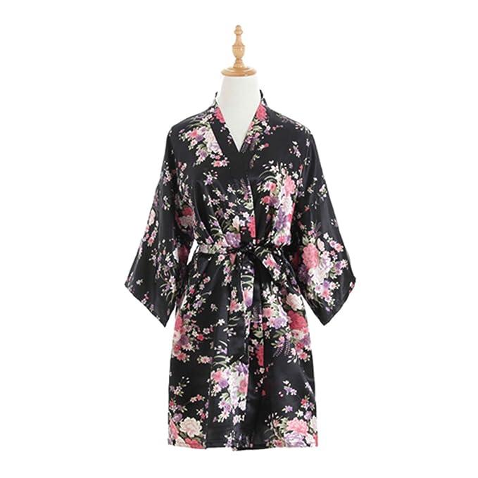 vente officielle acheter réel obtenir pas cher Robe Kimono Silk Satin Wedding Bridesmaid Robe Kimono ...