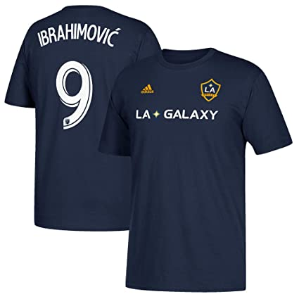 Zlatan Ibrahimovic LA Galaxy Mens Navy Player Name and Number T-shirt Medium