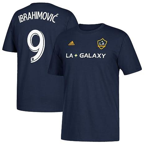 656cb03888d adidas Zlatan Ibrahimovic LA Galaxy Men's Navy Player Name and Number T- Shirt X-