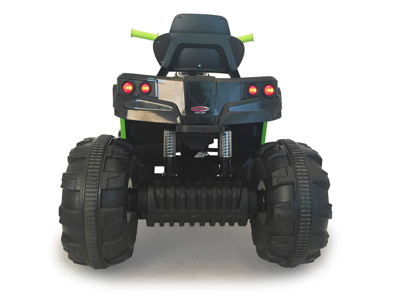Ultra-Gripp Gummiringe an Antriebsr/ädern UKW Radio gr/ün 2-Gang Turboschalter Jamara 460450 Ride-on Quad Protector Leistungsstarke Antriebsmotoren und 12V Akku f/ür Lange Fahrzeit