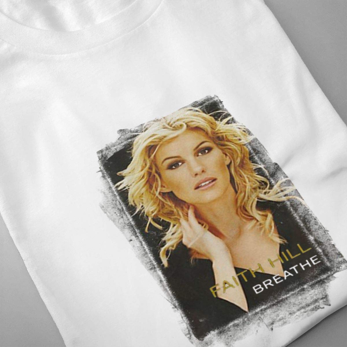 Linqarcon Mens Design with Faith Hill Breathe Work Round Neck Short Sleeve T Shirt