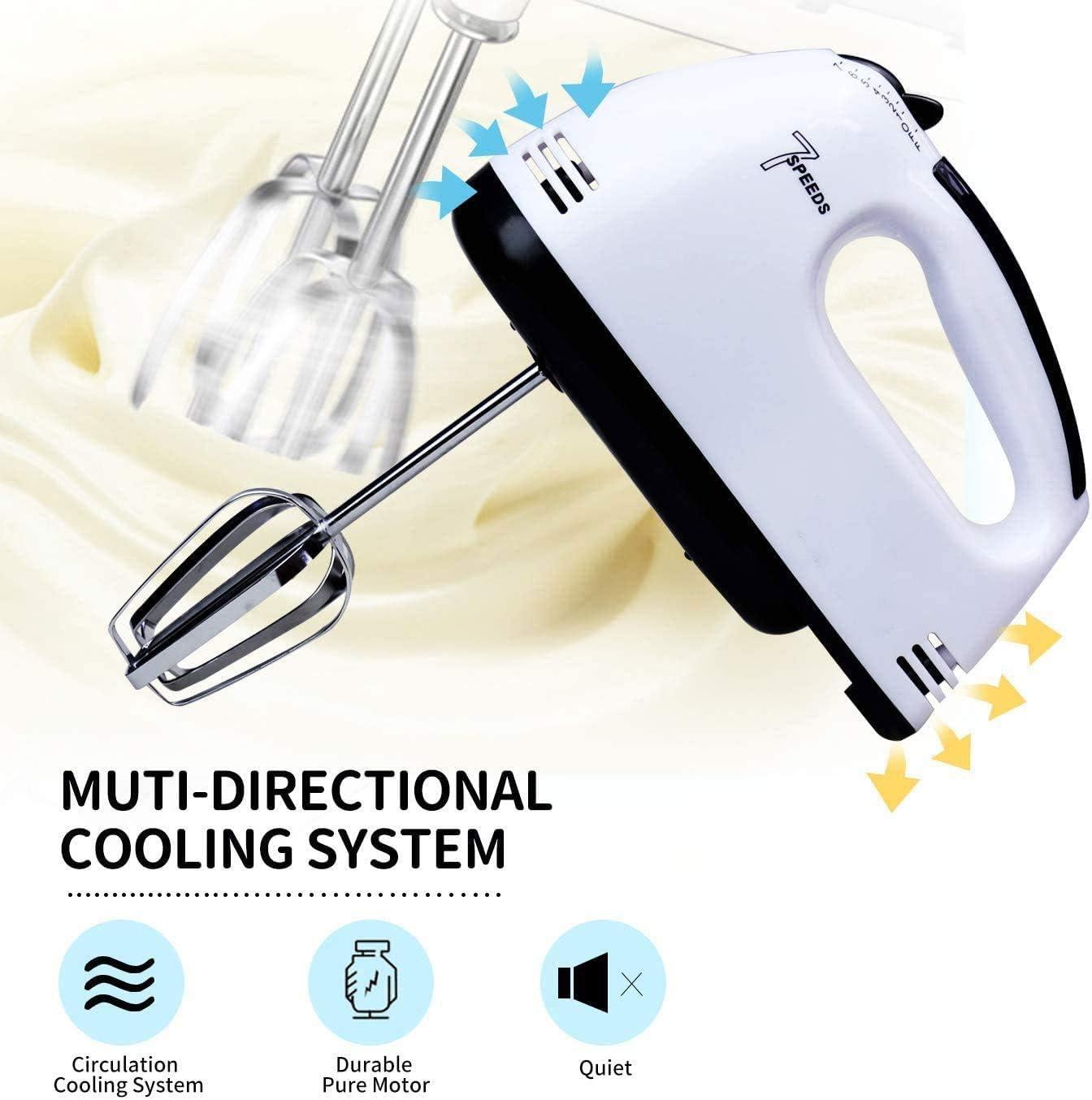 Frullino elettrico a mano 7 velocit/à scopa a mano leggera per cuocere torte da cucina Mini frullino con crema alluovo