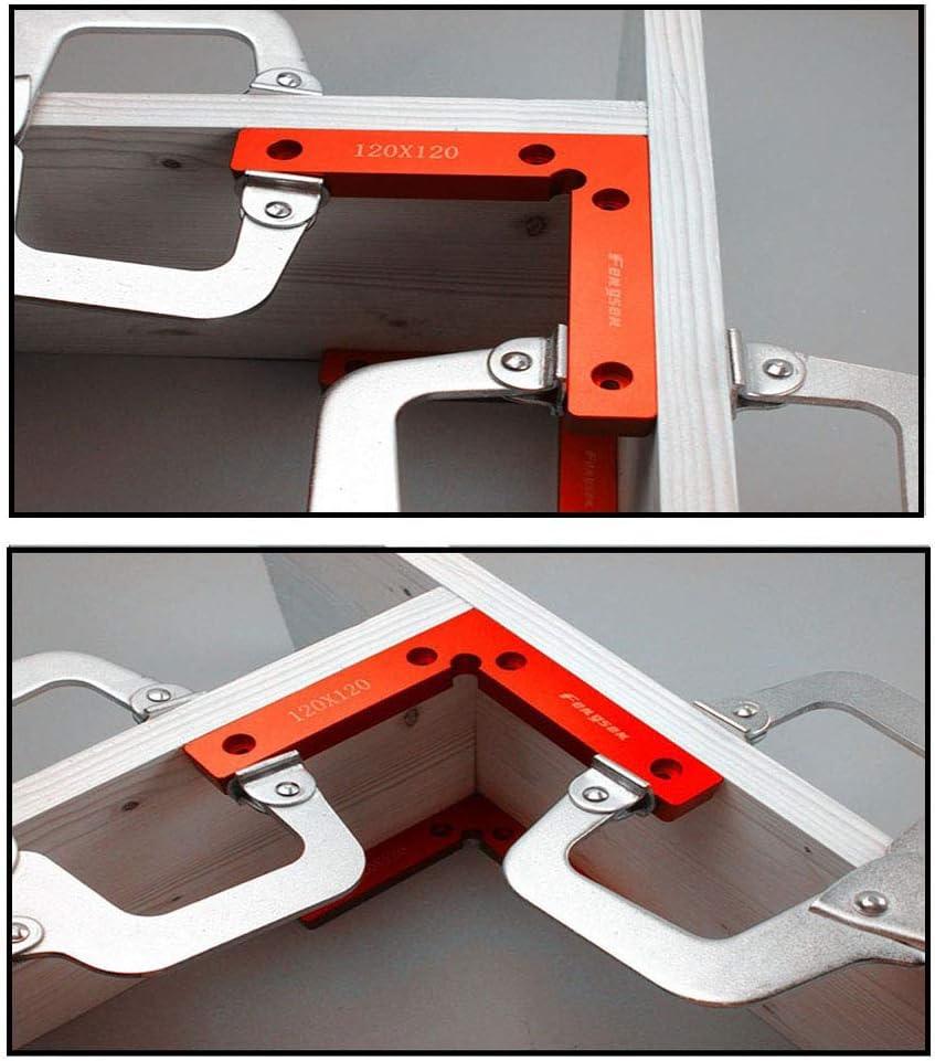 Honutige 90-Grad-Winkelklemme Wie abgebildet nicht null L-Typ-Eckklemme 100 mm Holzbearbeitung Zimmermann-Klemmwerkzeug f/ür Box//T/ür//Bilderrahmen Aluminiumlegierung