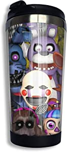 Fnaf ~ 5 Five Nights At Freddys ~ Video Game Gamer Gaming Coffee Travel Mug Cup Stainless Steel Vacuum Insulated Tumbler 13.5 Oz