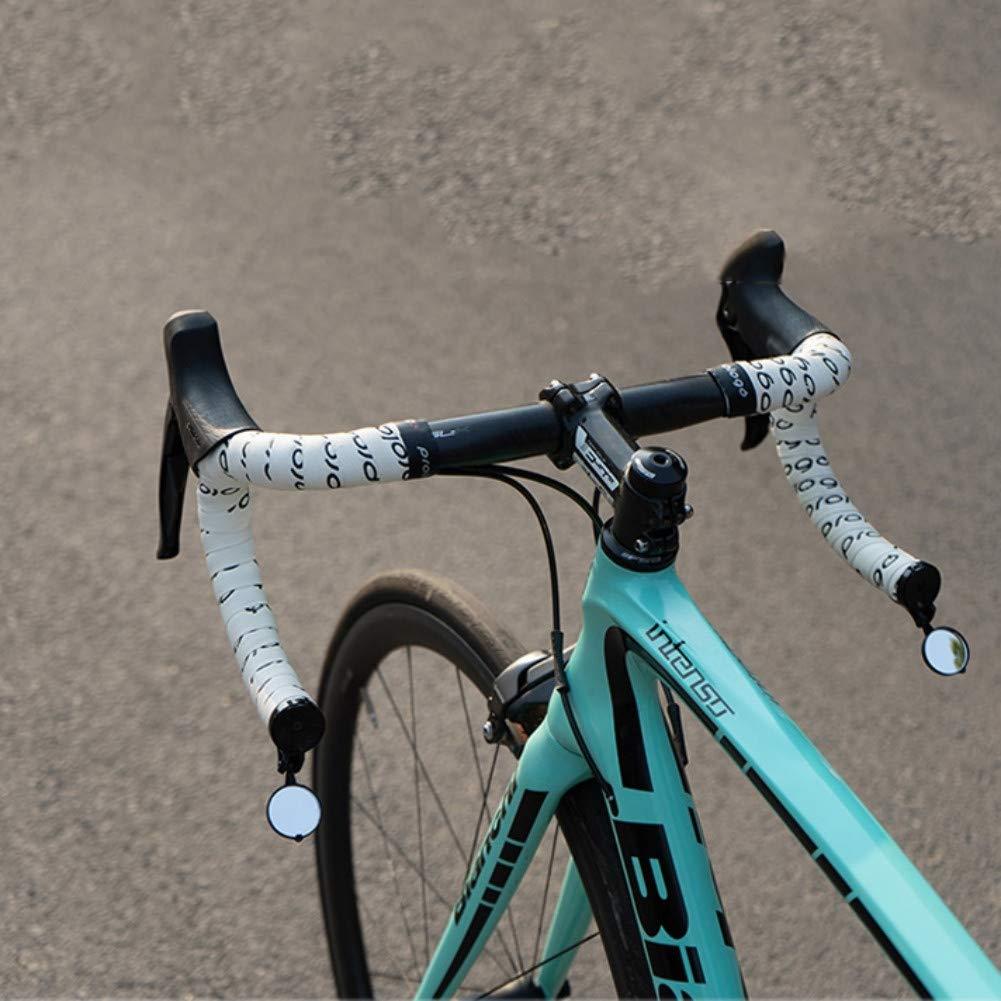Espejo retrovisor para Bicicleta Espejo de Extremo de Manillar de Bicicleta Ciclismo de Carretera Espejos retrovisores Flexibles Luckine Espejo retrovisor Seguro para Bicicletas