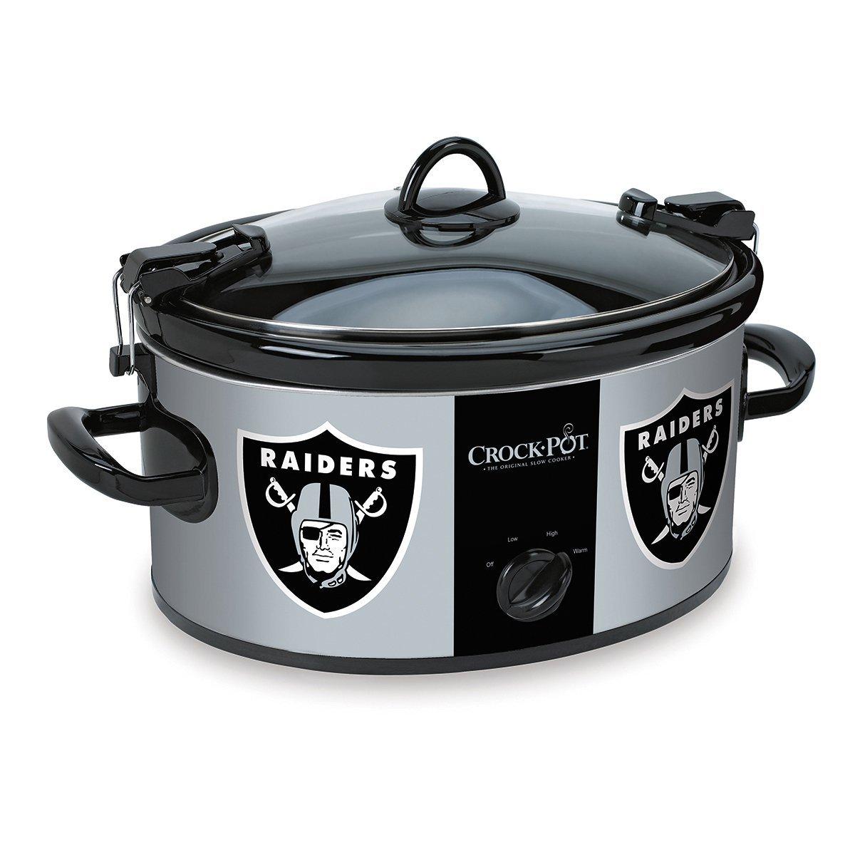 Crock-Pot SCCPNFL600-OR Oakland Raiders Cook & Carry Slow Cooker, Black