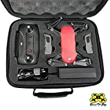 Drone Pit Stop Carrying Case for DJI Spark - Slots for Extra Battery, Charger and Transmitter. Splash-proof | Durable | Compact | EVA Material - Maximum Protection + Free Gift Included (Small)