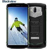 "【2018】Outdoor Smartphone, Blackview BV5800 IP68 Impermeabile, Antipolvere e Antiurto 5580mAh Batteria & 5A/2A Carica Veloce, Android 8.1 Oreo Dual 4G LTE SIM Smartphone, con 5.5"" IPS HD+ 18:9 Schermo Intero, 2GB RAM + 16GB ROM, Fotocamera 13mp + 8MP, OTG/ GPS/ GLONASS/ NFC/ WiFi/ Bussola/ Impronta Digitale- Verde"