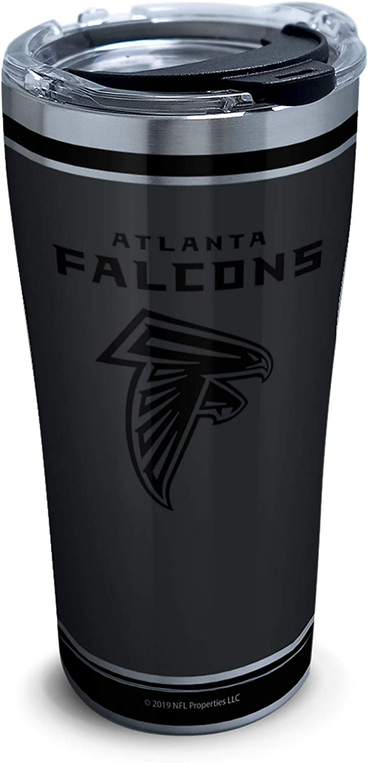 Tervis NFL 100-Atlanta Falcons Stainless Steel Insulated Tumbler with Clear and Black Hammer Lid, 20 oz, Silver