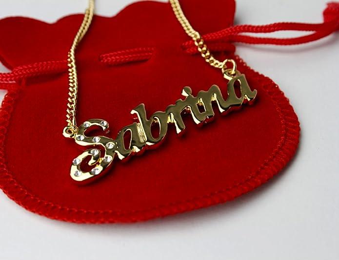 collier prenom sabrina