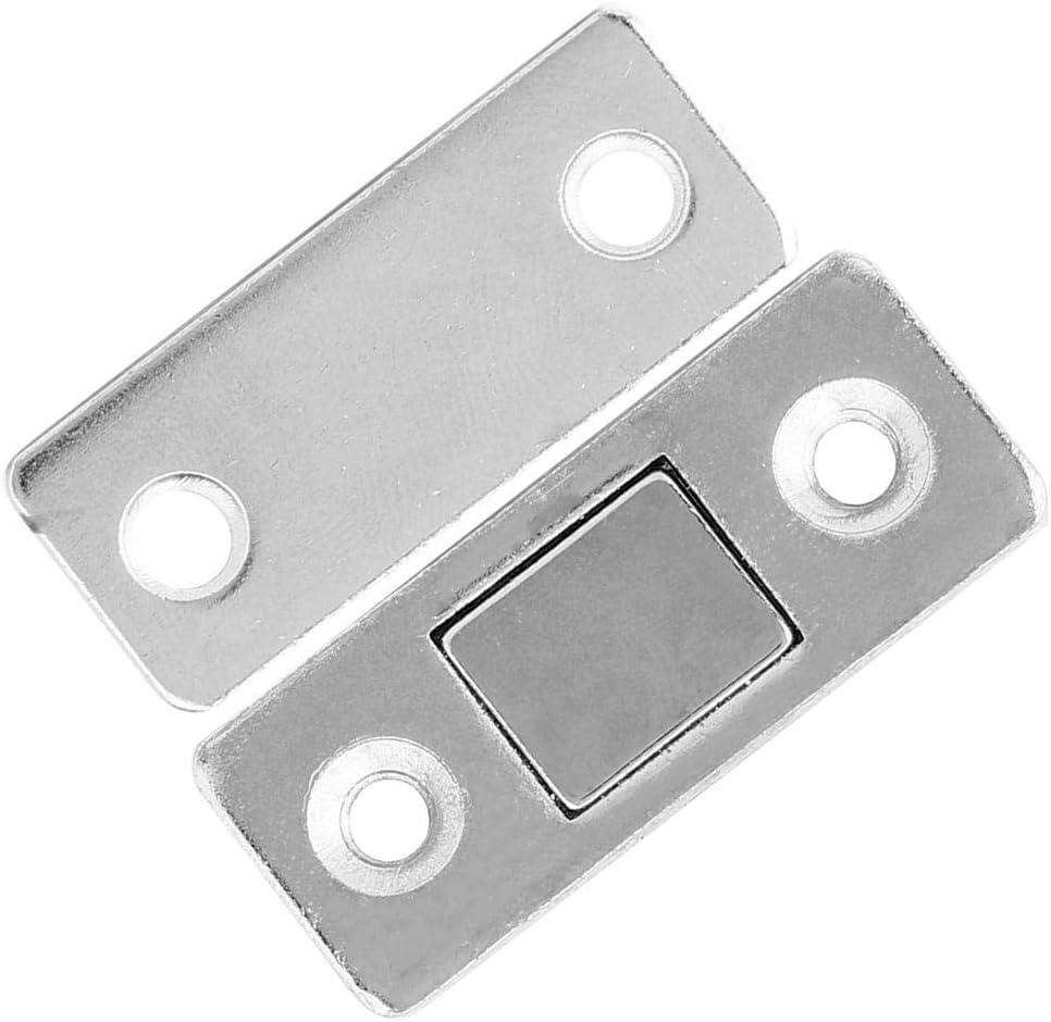 Atyhao Door Catch 10Pcs Stainless Steel Cabinet Door Magnet Sliding Door Suction Magnetic Door Catch