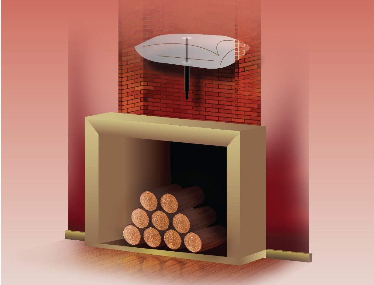 Globo de chimenea excluidor de tiro de la chimenea con tubo de inflado de boca GRATIS 84cm x 30cm