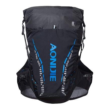 f3b995d1f7 Amazon.com : AONIJIE Hydration Pack Backpack 18L Trail Marathon Race Running  Nylon Vest Bag - Breathable Reflective Waterproof (Black&Blue-L/XL) :  Sports & ...
