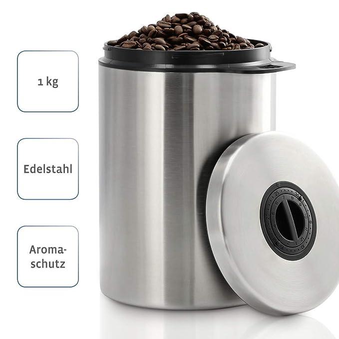 Xavax 111149 Recipiente de almacenar Comida - Recipiente para Alimentos (Plata, 17 cm, 17 cm, 21,8 cm)