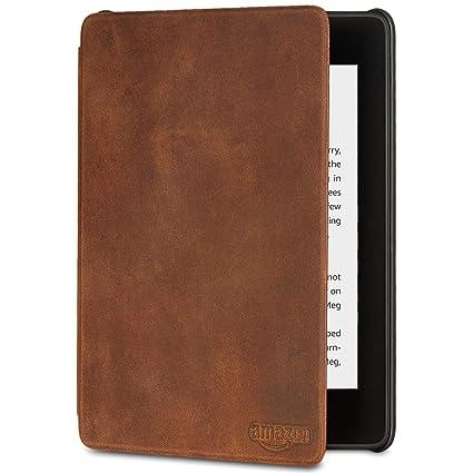 Amazon.com: All-new Kindle Paperwhite Premium Leather Cover ...