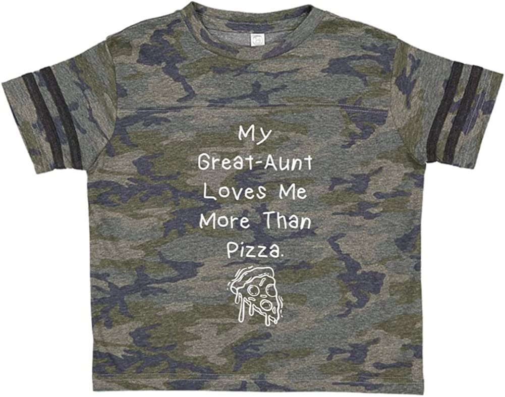 Toddler//Kids Sporty T-Shirt My Great-Aunt Loves Me More Than Pizza